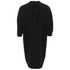 Alexander Wang Women's Shirt Tail Mini Dress with Black Slit Ties - Onyx: Image 2