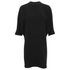 Alexander Wang Women's Shirt Tail Mini Dress with Black Slit Ties - Onyx: Image 1