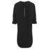 Alexander Wang Women's Shirt Tail Mini Dress with Flared A-Line Hem - Onyx: Image 2