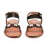 Carven Women's Flat Popper Sandals - Black: Image 3