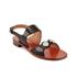 Carven Women's Flat Popper Sandals - Black: Image 2