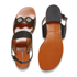 Carven Women's Flat Popper Sandals - Black: Image 5