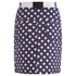 Carven Women's Printed Button Up Mini Skirt - Multi: Image 2