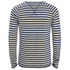 Nudie Jeans Men's Otto Raglan Sleeve Top - Off White/Navy: Image 2