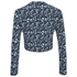 The Fifth Label Women's Basic Instinct Top - Geographic Blue Print: Image 3