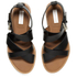 See by Chloe Women's Leather Flat Strappy Sandals - Black: Image 2