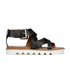 See by Chloe Women's Leather Flat Strappy Sandals - Black: Image 1