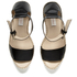 See By Chloé Women's Leather Espadrille Wedged Sandals - Black: Image 2