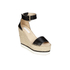 See By Chloé Women's Leather Espadrille Wedged Sandals - Black: Image 5