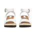 See by Chloe Women's Leather Wedged Sandals - White: Image 4