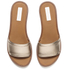 See By Chloé Women's Leather Slide Sandals - Gold: Image 2