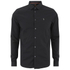 Luke Men's Butchers Pencil Super Slim Tape Detail Long Sleeve Shirt - Black: Image 1
