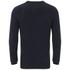 Luke Men's Smiths Crew Neck Knitted Jumper - Dark Navy Fleck: Image 2