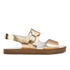 Paul Smith Shoes Women's Ilse Leather Double Strap Sandals - Vanilla Rodeo Metallic: Image 1
