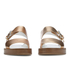 Paul Smith Shoes Women's Ilse Leather Double Strap Sandals - Vanilla Rodeo Metallic: Image 4