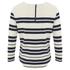 Maison Scotch Women's Breton Stripe 3/4 Sleeve T-Shirt with Zipper at Back - Multi: Image 3