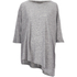 VILA Women's Tabat Oversize Top - Medium Grey Melange: Image 1