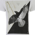 Religion Men's Bird Print Crew Neck T-Shirt - White: Image 3