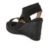 Castaner Women's Bernard Strappy Espadrille Wedged Sandals - Black: Image 4