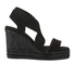 Castaner Women's Bernard Strappy Espadrille Wedged Sandals - Black: Image 1