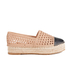 Loeffler Randall Women's Mariko Perforated Flatform Espadrilles - Buff/Black: Image 1