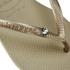 Havaianas Women's Slim Swarovski Crystal Glamour Flip Flops - Sandy Grey/Light Gold: Image 4