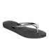 Havaianas Women's Slim Crystal Poem Flip Flops - Black/Graphite: Image 2