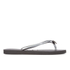 Havaianas Women's Slim Crystal Poem Flip Flops - Black/Graphite: Image 3
