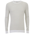 J.Lindeberg Men's Crew Neck Knitted Jumper - White: Image 1