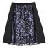 Carven Women's Floral Skirt - Black/Lilac: Image 1