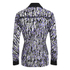 Carven Women's Printed Blouse - Silver/Black/Lilac: Image 2