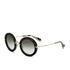 Miu Miu Women's Round Crystal Sunglasses - Black: Image 2