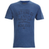 Tokyo Laundry Men's Indigo Tiger Acid Wash T-Shirt - Light Indigo: Image 1