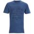 Tokyo Laundry Men's Indigo Tiger Acid Wash T-Shirt - Light Indigo: Image 1