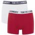 Tokyo Laundry Men's Tasmania 2 Pack Boxers - Optic White/Tokyo Red: Image 1