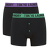 Tokyo Laundry Men's Charmouth 2 Pack Button Boxers - Simply Green/Dewberry: Image 1