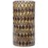 Bark & Blossom Bronze Mosaic Hurricane Glass: Image 1