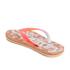 Superdry Women's Printed Cork Flip Flops - Fluro/Coral Palm Print: Image 4