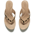 UGG Women's Natassia Calf Hair Leopard Wedged Sandals - Chestnut Leopard: Image 2
