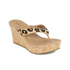 UGG Women's Natassia Calf Hair Leopard Wedged Sandals - Chestnut Leopard: Image 5