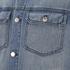 BLK DNM Men's Loose Fitted Denim Jacket - Tinton Blue: Image 3