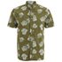 Penfield Men's Belden Printed Short Sleeve Shirt - Olive: Image 1