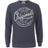 Jack & Jones Men's Originals Tones Sweatshirt - Navy Blazer Melange: Image 1