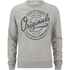 Jack & Jones Men's Originals Tones Sweatshirt - Light Grey Melange: Image 1
