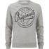 Jack & Jones Men's Originals Tones Sweatshirt - Light Grey Melange: Image 1