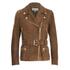 MICHAEL MICHAEL KORS Women's Belted Suede Jacket - Caramel: Image 1