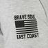 Brave Soul Men's Lamont Graphic Print T-Shirt - Ecru Marl: Image 3