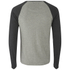 Brave Soul Men's Osbourne Raglan Long Sleeve Top - Light Grey Marl: Image 2