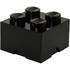 LEGO Storage Brick 4 - Black: Image 1