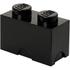 Brique de rangement LEGO® noire 2 tenons: Image 1